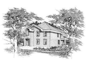 Two-Story House Plan, 061H-0033