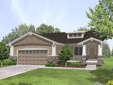 Bungalow House Plan, 016H-0033