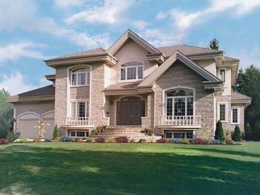 Luxury European Home, 027H-0028