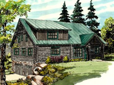 Log Home Plan, 066L-0001