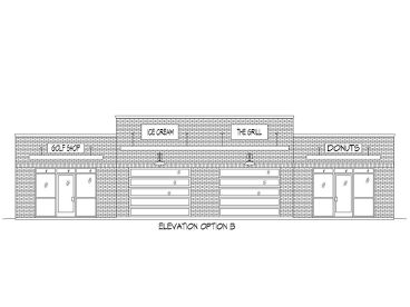 Optional Front Elevation, 062C-0003