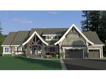 Craftsman House Plan, 023H-0175