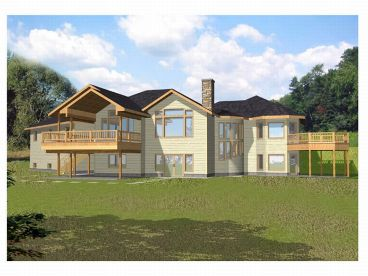 Waterfront House Plan, 012H-0011