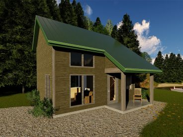 Vacation Cabin Plan, 050H-0138
