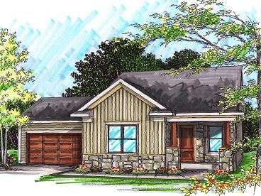 Empty-Nester Home Plan, 020H-0230