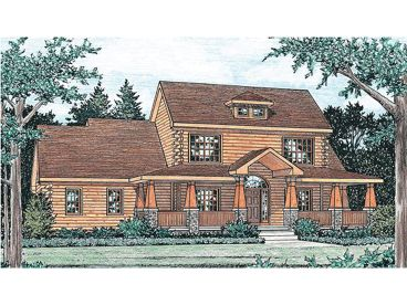 Log House Plan, 031H-0009