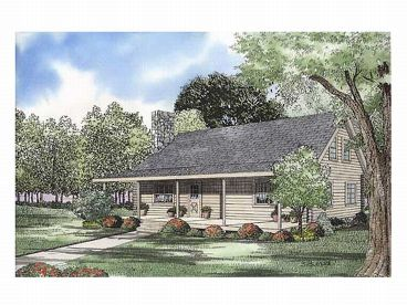 Country Log Home Plan, 025L-0025