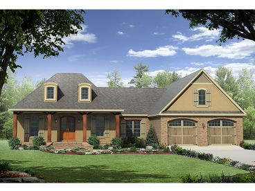 European House Plan, 001H-0162