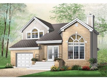 Two-Story House Plan, 027H-0011
