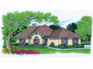 Stucco Home Plan, 021H-0128