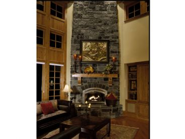 Family Room Fireplace, 035H-0036