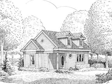 Cottage House Plan, 054H-0055
