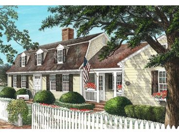 Cape Cod House Plan, 063H-0167