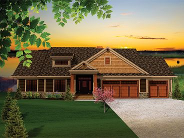 Craftsman House Plan, 020H-0257