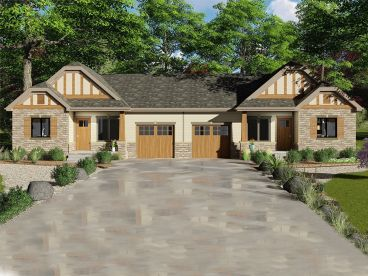 Duplex House Plan, 050M-0020
