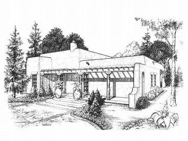 Adobe House Plans Small Southwestern Adobe Home Plan Design