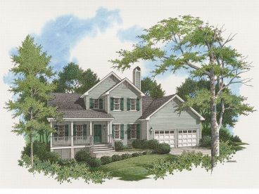 Two-Story Home Plan, 030H-0023