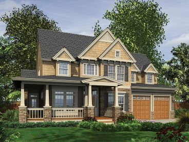 Country Craftsman House, 034H-0052