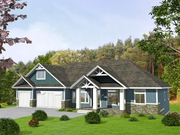 Waterfront House Plan, 012H-0244