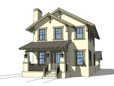 Bungalow Home Plan, 052H-0097
