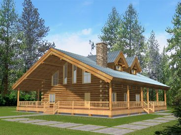 Country Log Home, 012L-0065