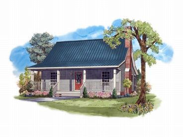 Cabin House Plan, 001H-0008