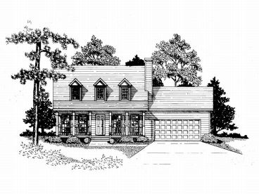 Two-Story House Plan, 019H-0119