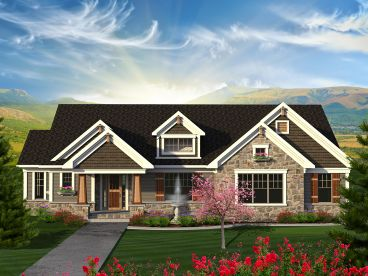 Craftsman House Plan, 020H-0370