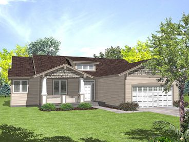 Bungalow House Plan, 016H-0031