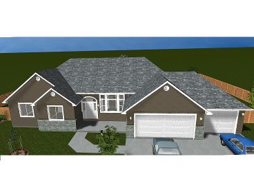 Ranch House Plan, 065H-0033