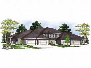 Multi-Family House Plan, 020M-0002