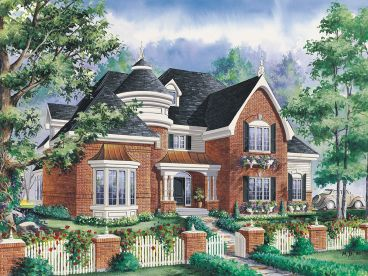 European House Plan, 072H-0230