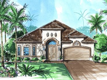 Sunbelt House Plan, 037H-0089