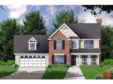 Two-Story Home Plan, 015H-0072