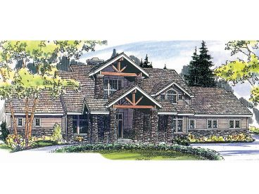 Craftsman House Plan, 051H-0096