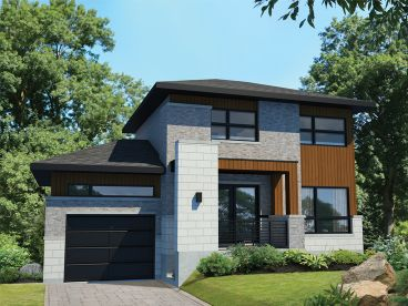 Small Modern House Plan, 072H-0173