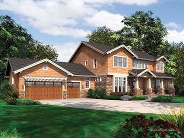 Luxury Craftsman Home, 034H-0040