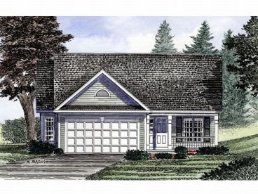 Narrow Lot Home Plan, 014H-0003