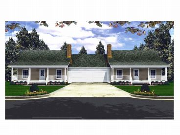 Duplex House Plan, 001M-0003