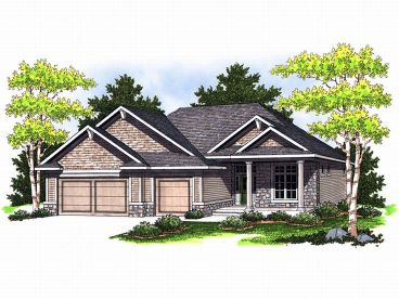Ranch House Plan, 020H-0129