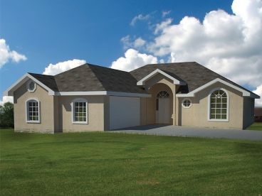 Sunbelt House Plan, 068H-0008