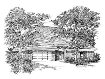 Ranch Home Plan, 061H-0072