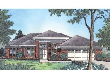 Ranch Home Plan, 043H-0050