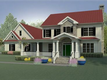 Two-Story House Plan, 019H-0205
