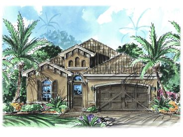 Sunbelt House Design, 037H-0082