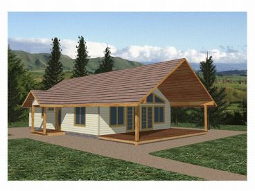 Vacation House Plan, 012H-0035
