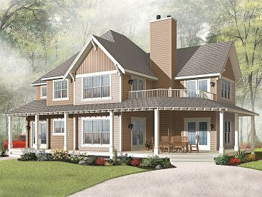 Two-Story House Plan, 027H-0310