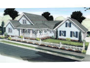 Country Home Plan, 059H-0124