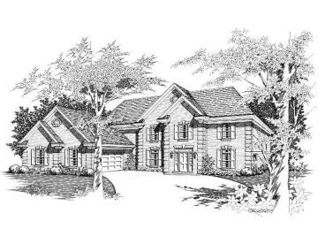 Colonial House Plan, 061H-0107