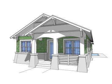 Bungalow Home Plan, 052H-0038